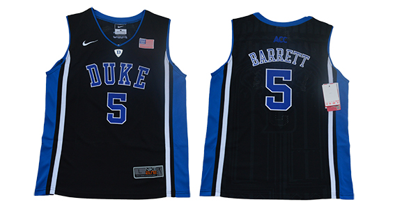 Youth Duke Blue Devils 5 Barrett Black Nike NCAA Jersey