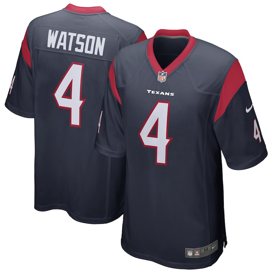 Youth Houston Texans 4 Deshaun Watson Navy Game Nike NFL Jersey