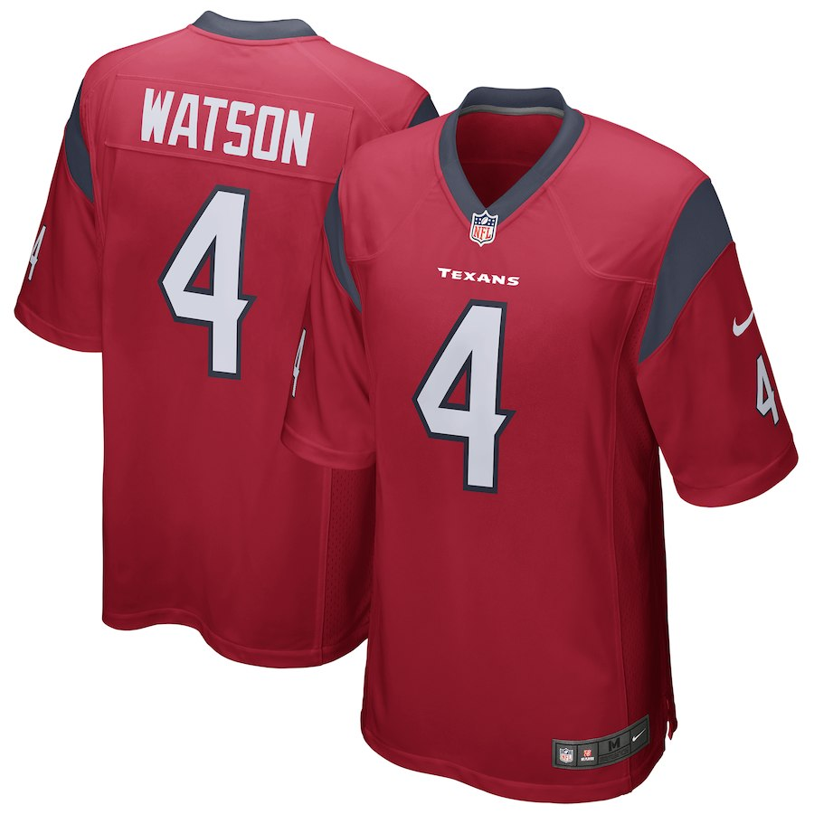 Youth Houston Texans 4 Deshaun Watson Red Game Nike NFL Jersey