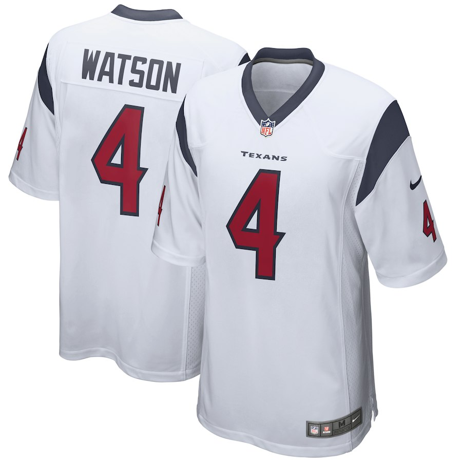 Youth Houston Texans 4 Deshaun Watson White Game Nike NFL Jersey