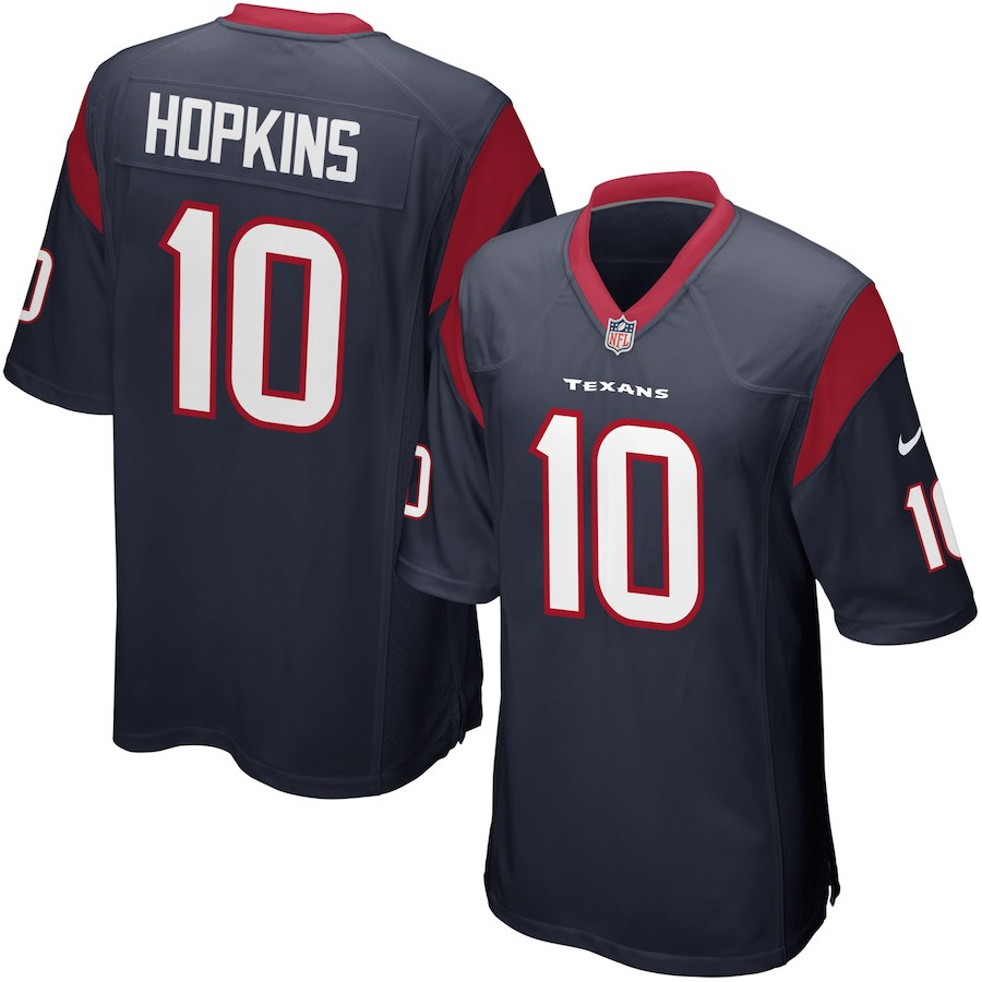 Youth Houston Texans Nike 10 DeAndre Hopkins Navy Team Color Game NFL Jerseys