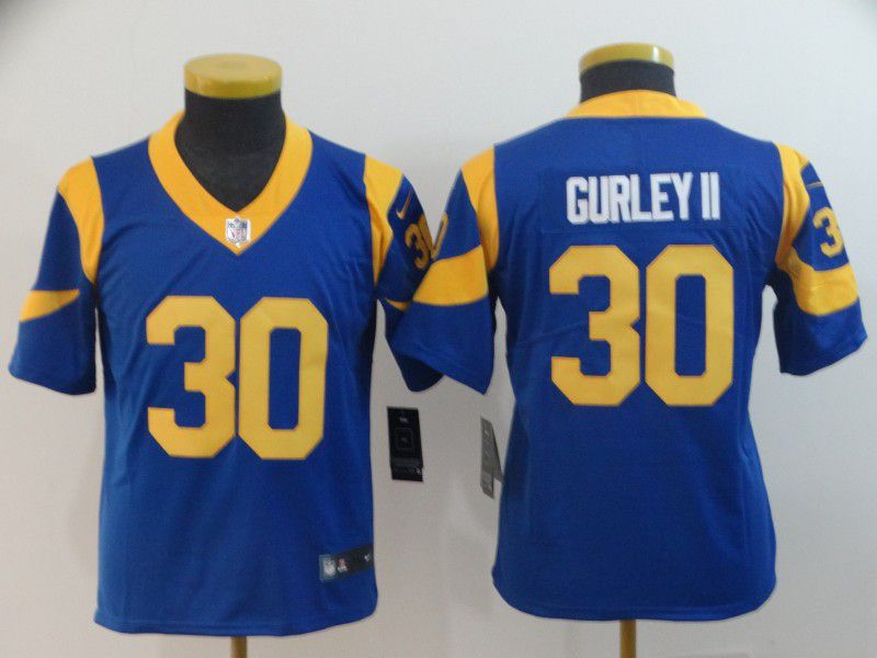 Youth Los Angeles Rams 30 Gurley ii Blue Nike Vapor Untouchable Limited Player NFL Jerseys