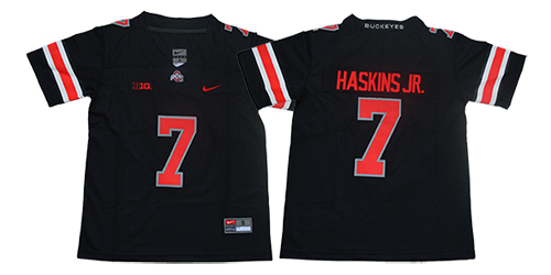 Youth Ohio State Buckeyes 7 Haskins jr Black Nike NCAA Jerseys