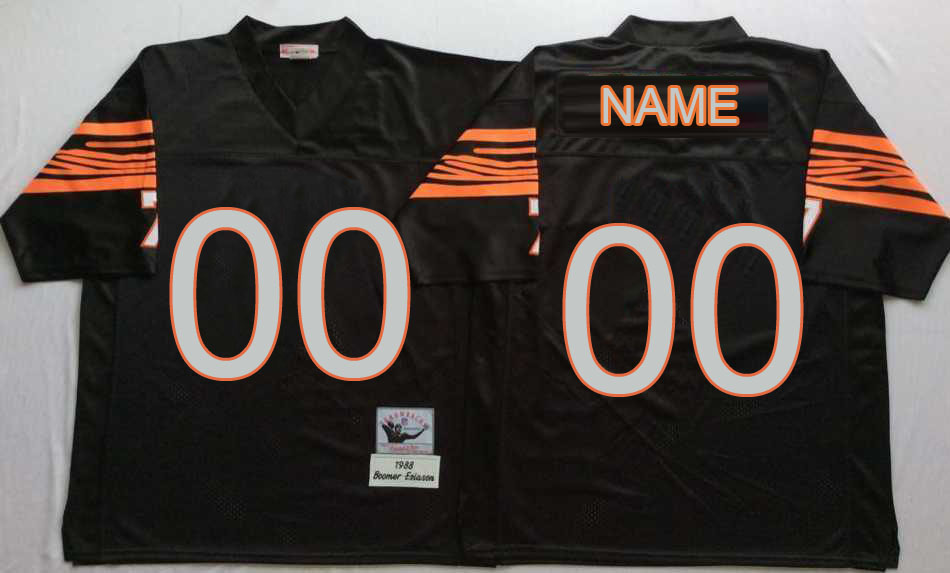 Men Customized Bengals Black NFL MN Throwback Jersey
