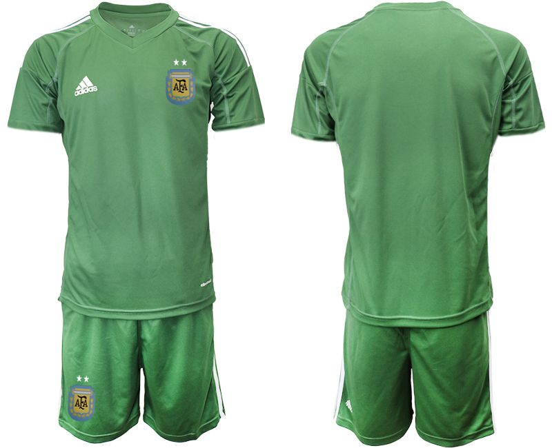 Men 2018 World Cup Argentina army green goalkeeper soccer jersey