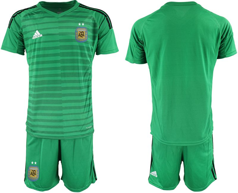 Men 2018 World Cup Argentina green goalkeeper soccer jersey1