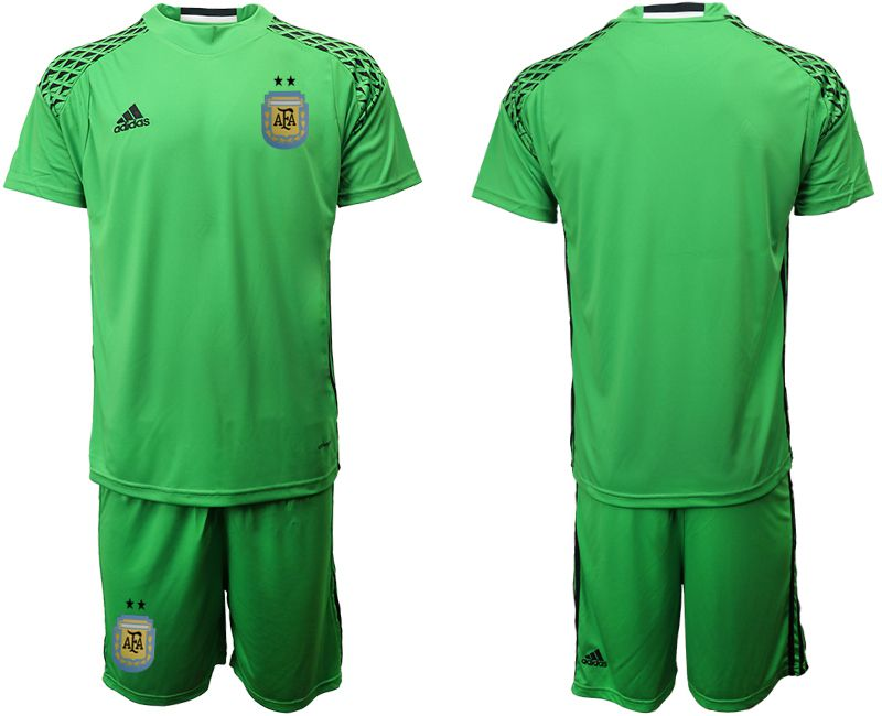 Men 2018 World Cup argentina green goalkeeper soccer jersey