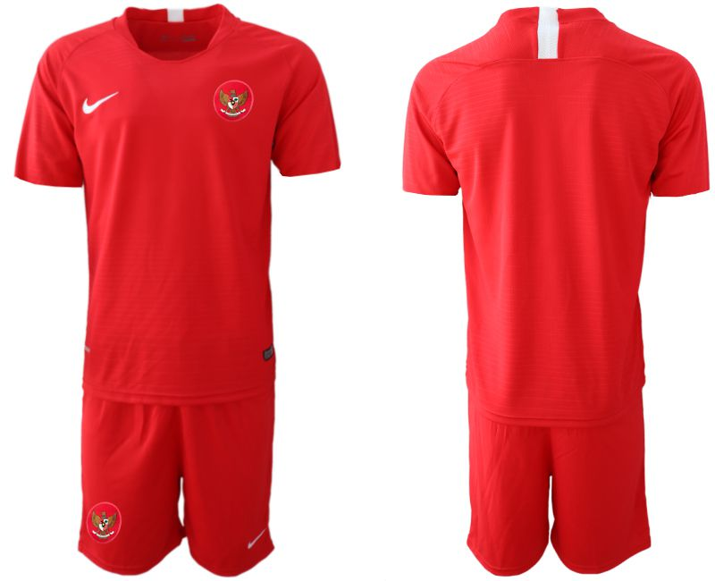 Men 2018-2019 National Team Indonesia home red Soccer Jerseys