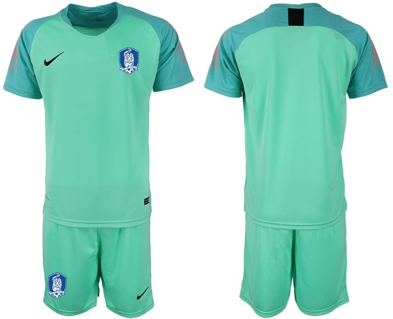 Men 2018-2019 National Team Korea Republic Fruit green goalkeeper soccer jersey