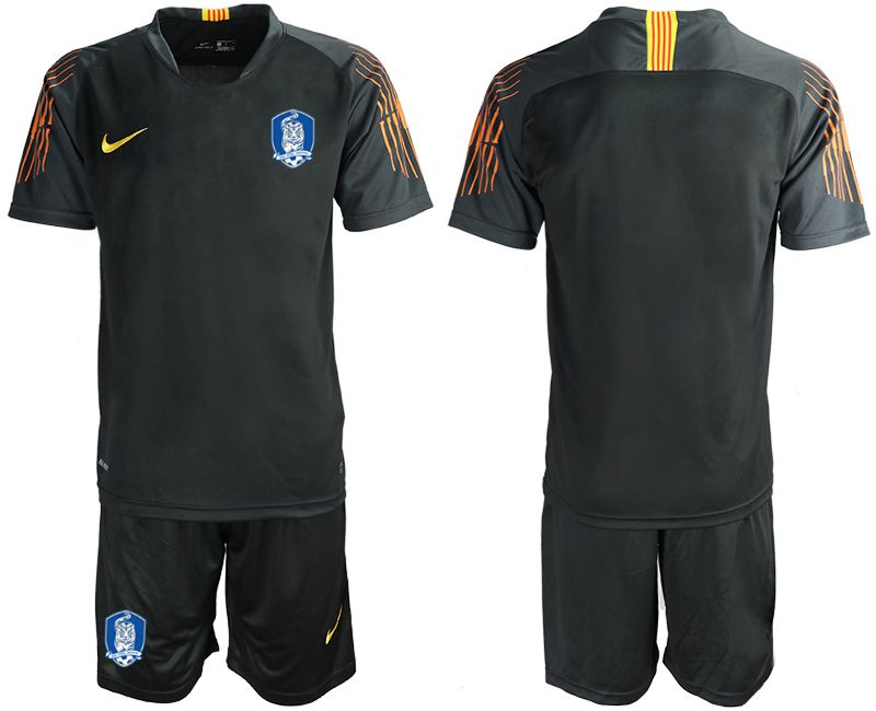 Men 2018-2019 National Team Korea Republic black goalkeeper soccer jersey