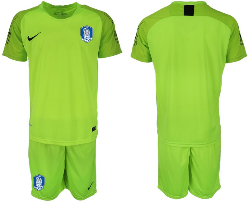 Men 2018-2019 National Team Korea Republic fluorescent green goalkeeper Soccer Jerseys