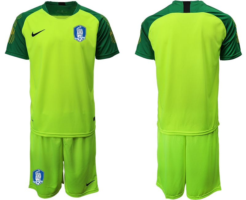 Men 2018-2019 National Team Korea Republic fluorescent green goalkeeper soccer jersey1