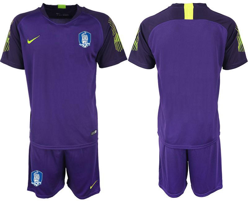 Men 2018-2019 National Team Korea Republic purple goalkeeper soccer jersey