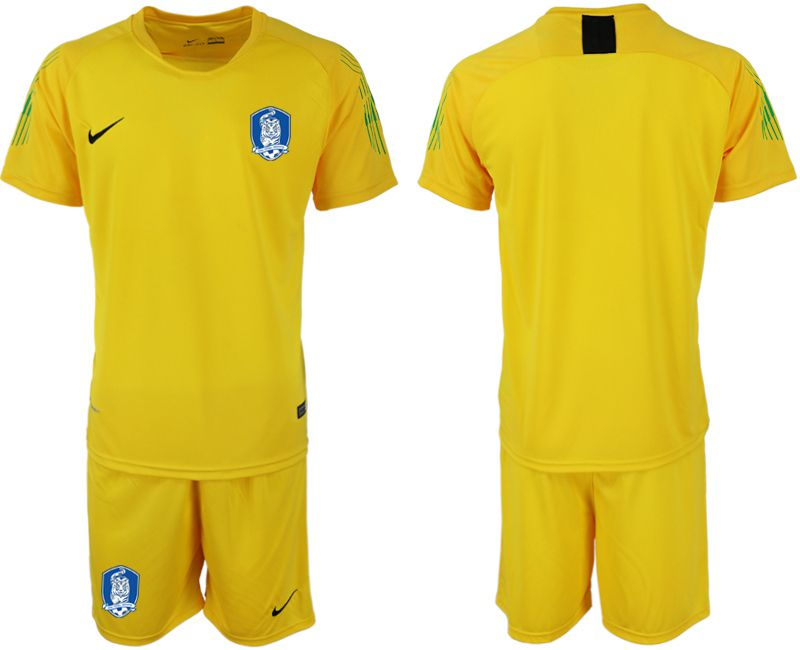 Men 2018-2019 National Team Korea Republic yellow goalkeeper soccer jersey