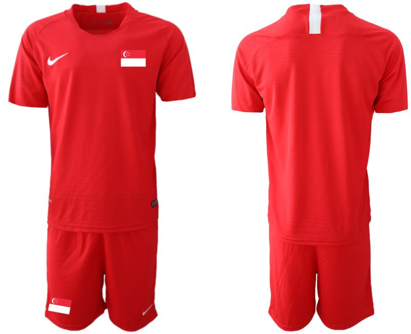Men 2018-2019 National Team Singapore home red soccer jersey