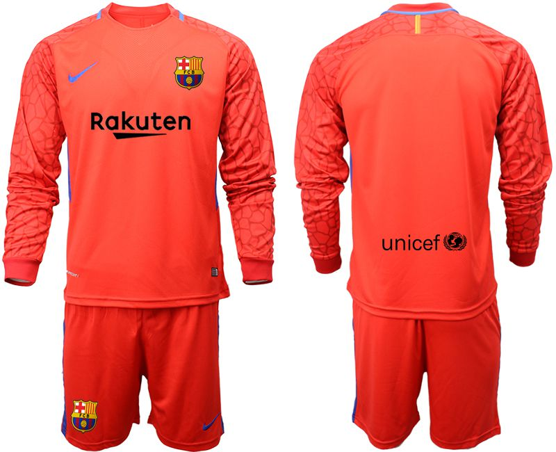 Men 2018-2019 club Barcelona red goalkeeper long sleeve Soccer Jerseys