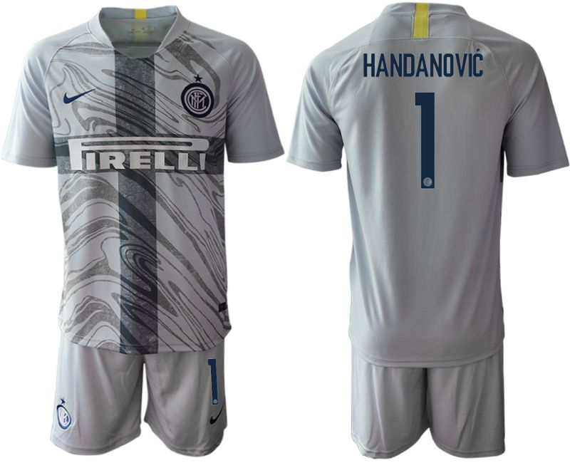 Men 2018-2019 club Inter Milan Third grey 1 Soccer Jerseys