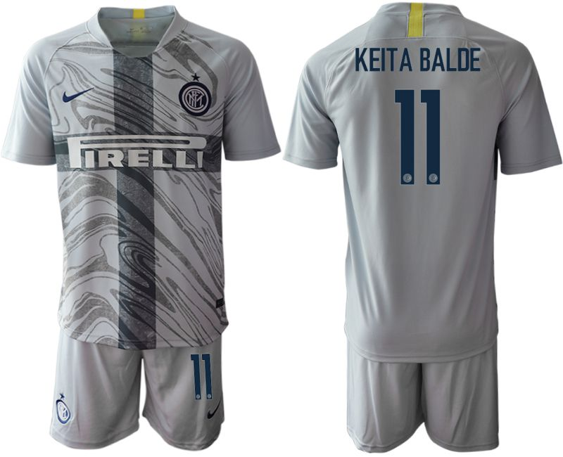 Men 2018-2019 club Inter Milan Third grey 11 Soccer Jerseys