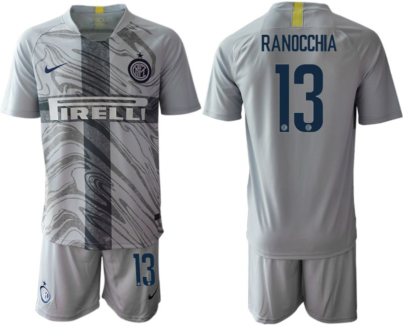 Men 2018-2019 club Inter Milan Third grey 13 Soccer Jerseys