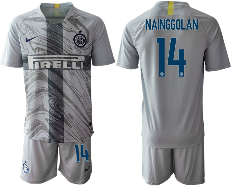 Men 2018-2019 club Inter Milan Third grey 14 Soccer Jerseys
