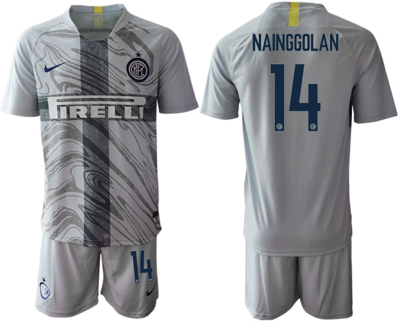 Men 2018-2019 club Inter Milan Third grey 14 Soccer Jerseys1
