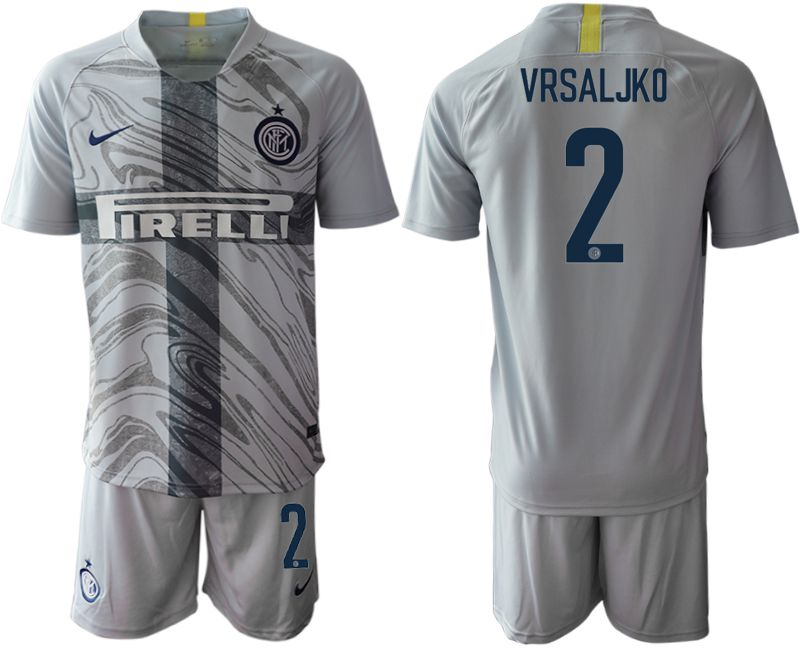 Men 2018-2019 club Inter Milan Third grey 2 Soccer Jerseys