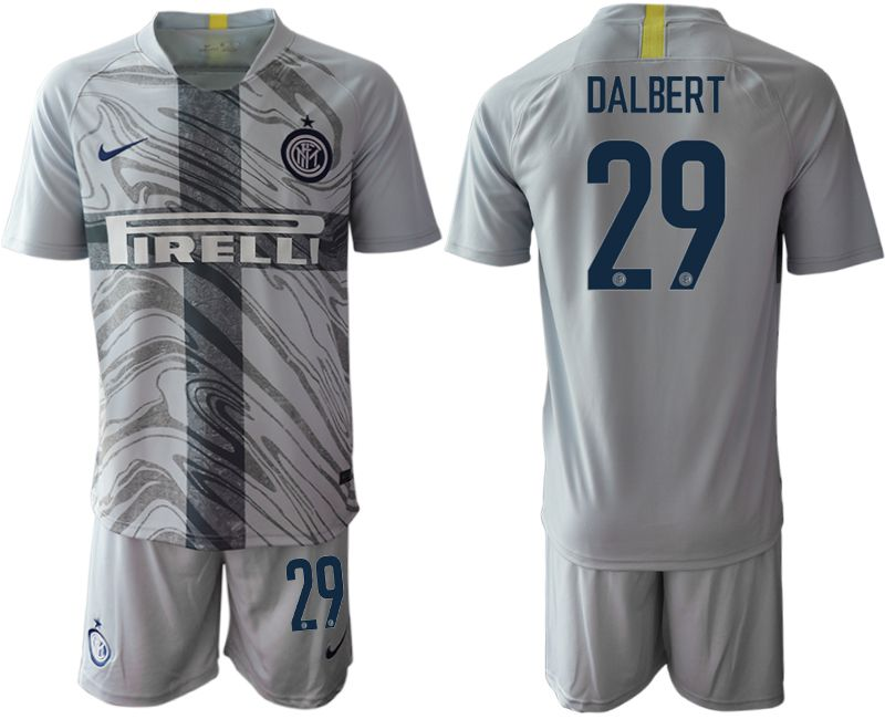 Men 2018-2019 club Inter Milan Third grey 29 Soccer Jerseys