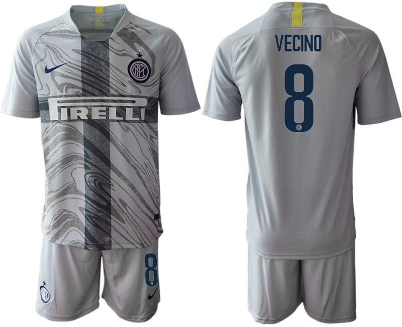 Men 2018-2019 club Inter Milan Third grey 8 Soccer Jerseys