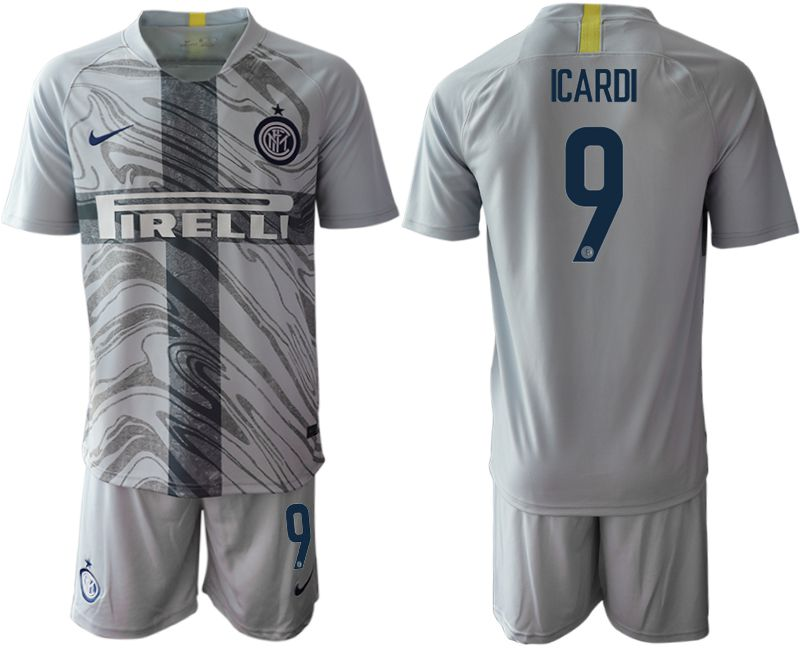 Men 2018-2019 club Inter Milan Third grey 9 Soccer Jerseys