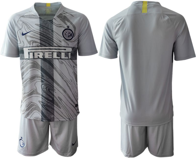 Men 2018-2019 club Inter Milan Third grey blank Soccer Jerseys