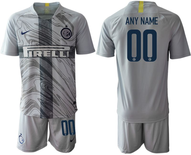Men 2018-2019 club Inter Milan Third grey customized Soccer Jerseys