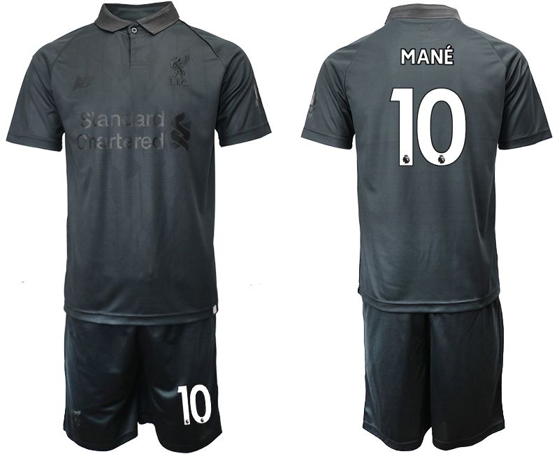 Men 2018-2019 club Liverpool black goalkeeper 10 Soccer Jerseys