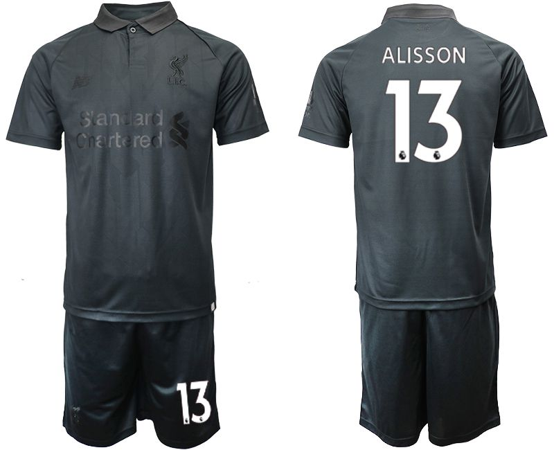 Men 2018-2019 club Liverpool black goalkeeper 13 Soccer Jerseys