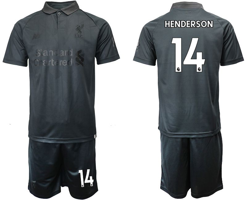 Men 2018-2019 club Liverpool black goalkeeper 14 Soccer Jerseys