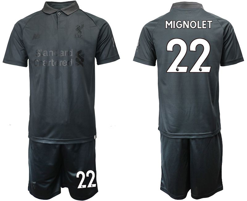 Men 2018-2019 club Liverpool black goalkeeper 22 Soccer Jerseys