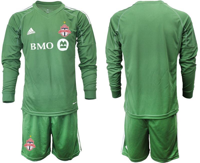 Men 2018-2019 club Toronto FC army green long sleeve goalkeeper Soccer Jerseys