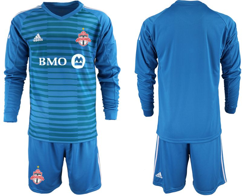 Men 2018-2019 club Toronto FC blue goalkeeper Long sleeve Soccer Jerseys