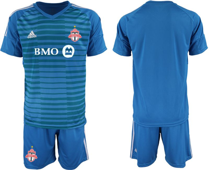 Men 2018-2019 club Toronto FC blue goalkeeper Soccer Jerseys