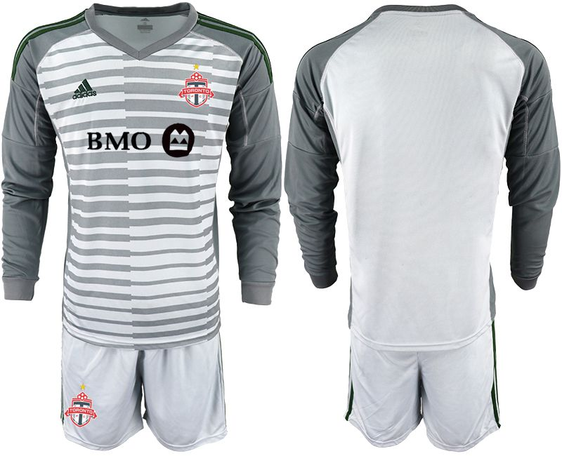 Men 2018-2019 club Toronto FC gray long sleeve goalkeeper Soccer Jerseys