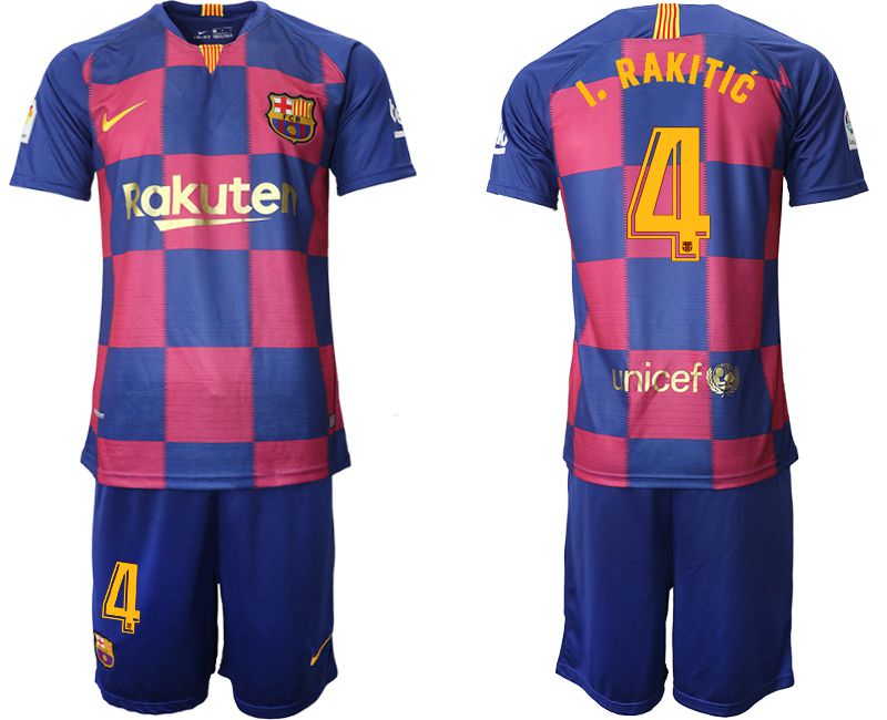 Men 2019-2020 club Barcelona 20th Anniversary home 4 blue Soccer Jerseys