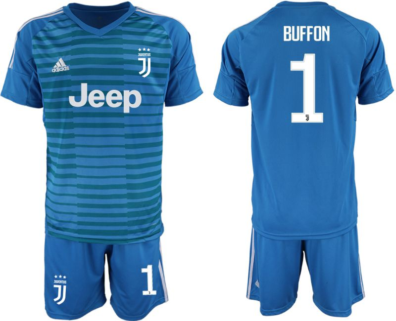 Men 2019-2020 club Juventus blue goalkeeper 1 Soccer Jerseys