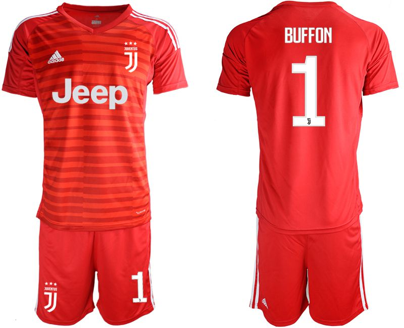 Men 2019-2020 club Juventus red goalkeeper 1 Soccer Jerseys