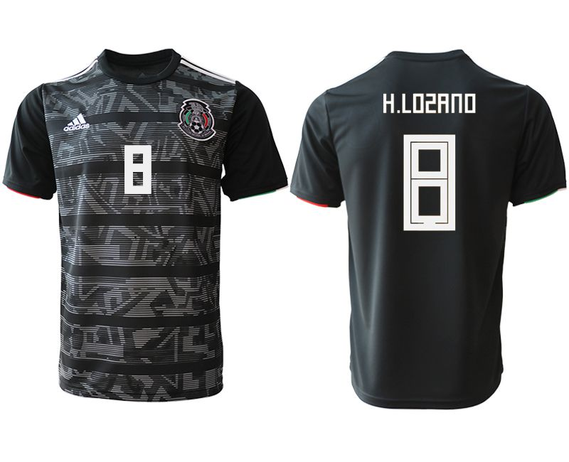 Men 2019-2020 club Mexico away aaa version 8 black Soccer Jerseys