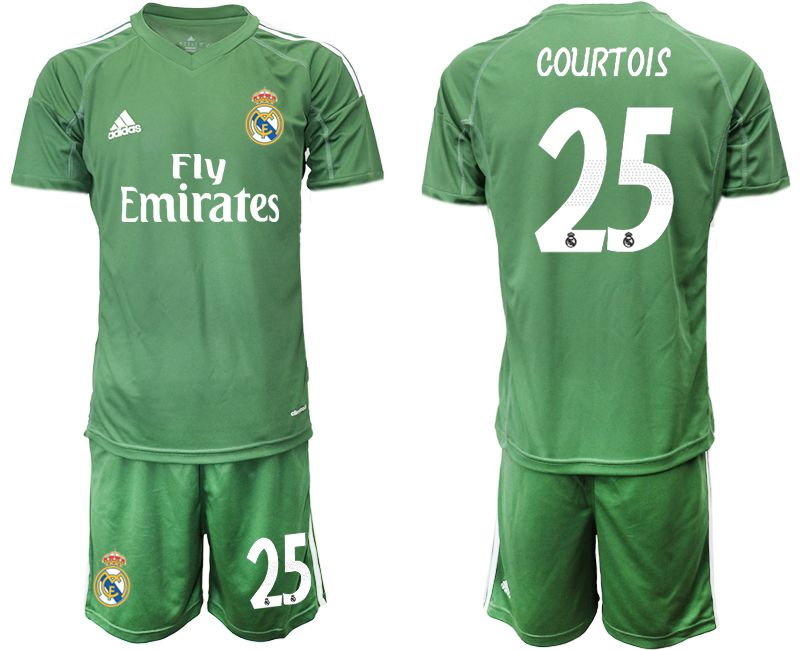 Men 2019-2020 club Real Madrid army green goalkeeper 25 Soccer Jerseys