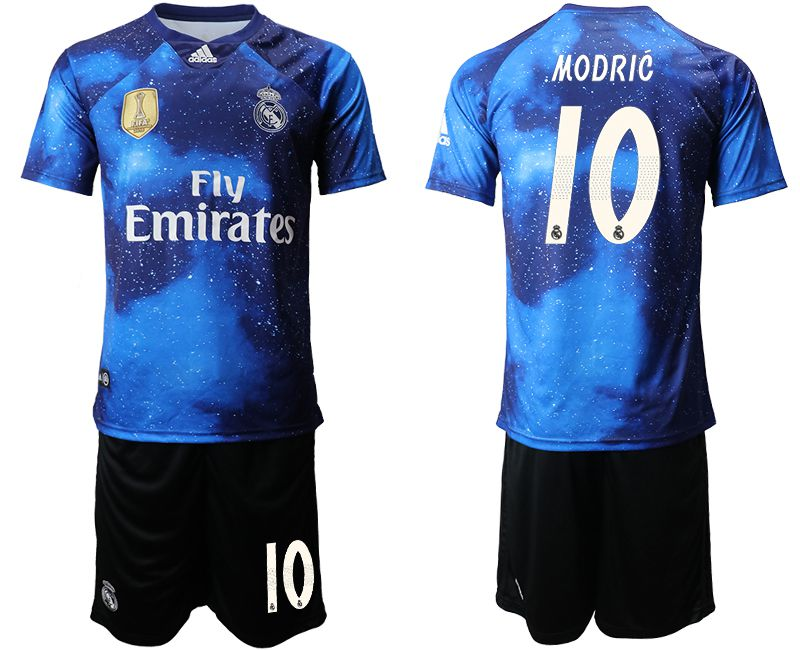 Men 2019-2020 club Real Madrid away 10 blue Soccer Jerseys