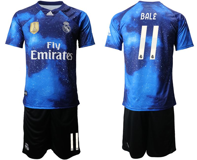Men 2019-2020 club Real Madrid away 11 blue Soccer Jerseys