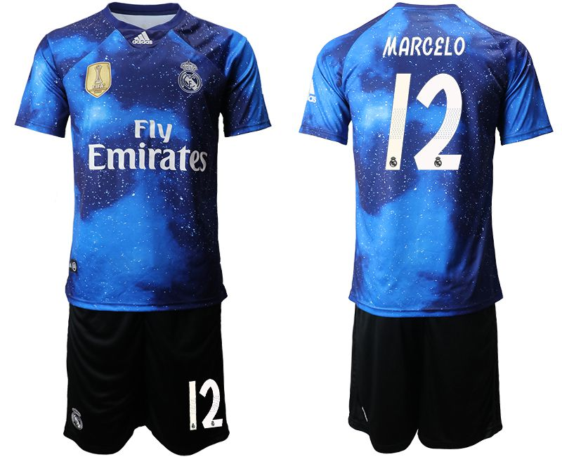 Men 2019-2020 club Real Madrid away 12 blue Soccer Jerseys