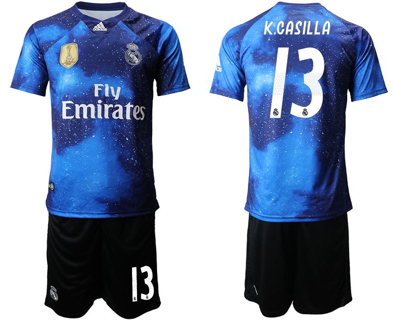 Men 2019-2020 club Real Madrid away 13 blue Soccer Jerseys