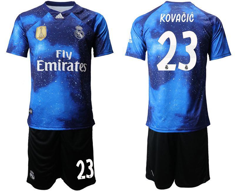 Men 2019-2020 club Real Madrid away 23 blue Soccer Jerseys
