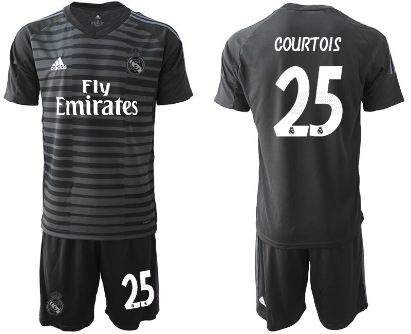 Men 2019-2020 club Real Madrid black goalkeeper 25 Soccer Jerseys